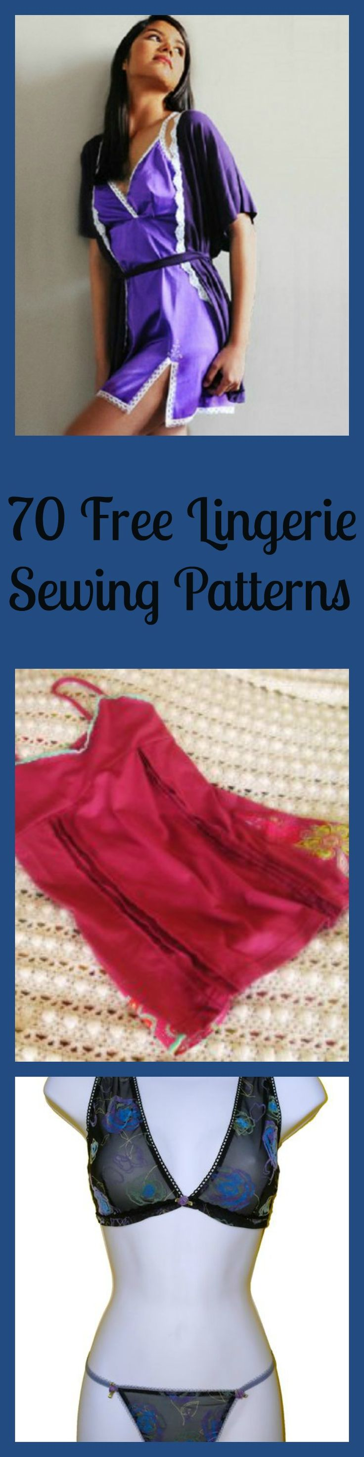 70 Free Lingerie Sewing Patterns