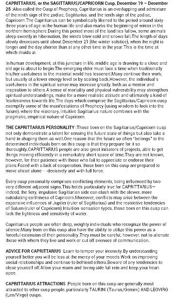 I was born on Sagittarius-Capricorn cusp - DEC 22….  ~ Lynn