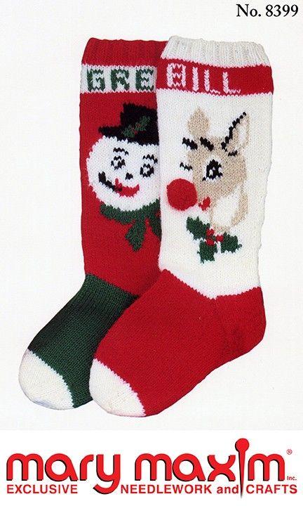 snowman and rudolph stockings pattern - Xmas Stockings