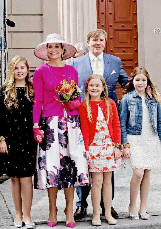 Koningsdag 2016: The Royal Family attend the celebrations in Zwolle, Netherlands.