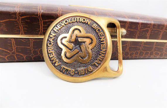 American Revolution Bicentennial Brass Buckle Tut Taylor