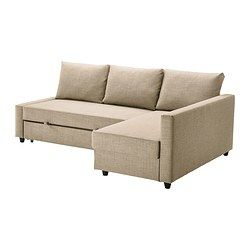 FRIHETEN Corner sofa-bed - Skiftebo beige - IKEA  for upstairs middle room, to replace the twin bed