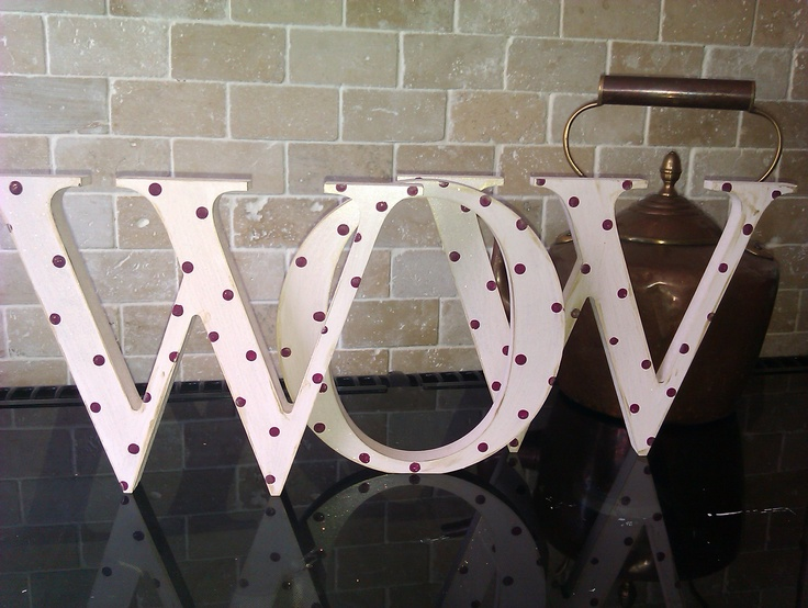 20cm high painted capital letters