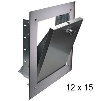 """Laundry shoot door- Fire rated and self latching 12\"""" x 15\""""(inch) Bottom Hinged (BH) Chute Intake Door"""