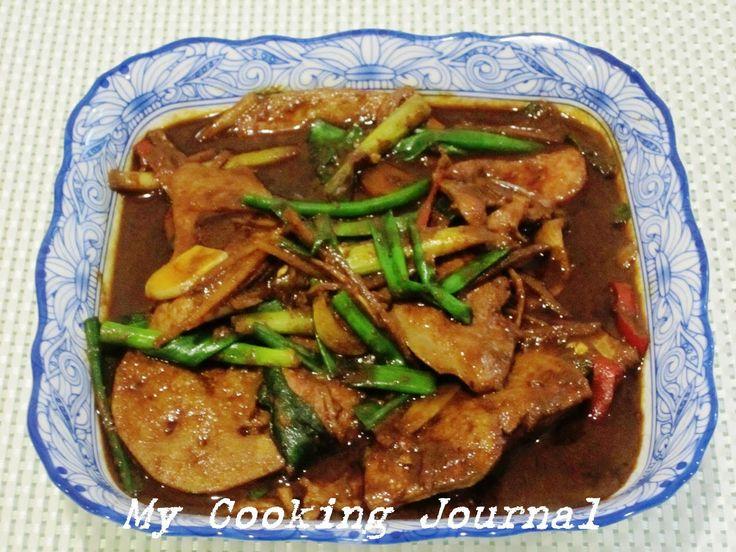 MummyLoveBlog: My Cooking Journal 18 - Stir Fry Pork Liver (猪肝)
