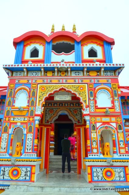 Badrinath Temple front view at Chardham