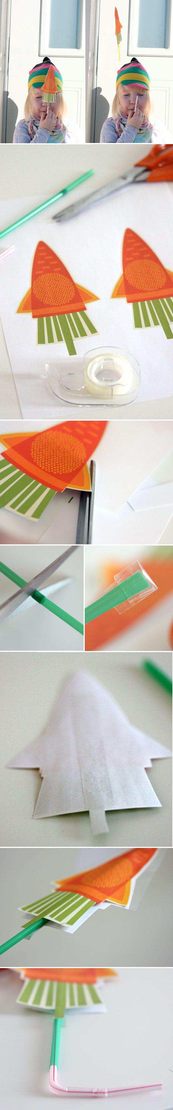 Porkkanaraketti. lasten | askartelu | pääsiäinen | käsityöt | koti | paperi | DIY ideas | kid crafts | Easter | home | paper crafts | Pikku Kakkonen
