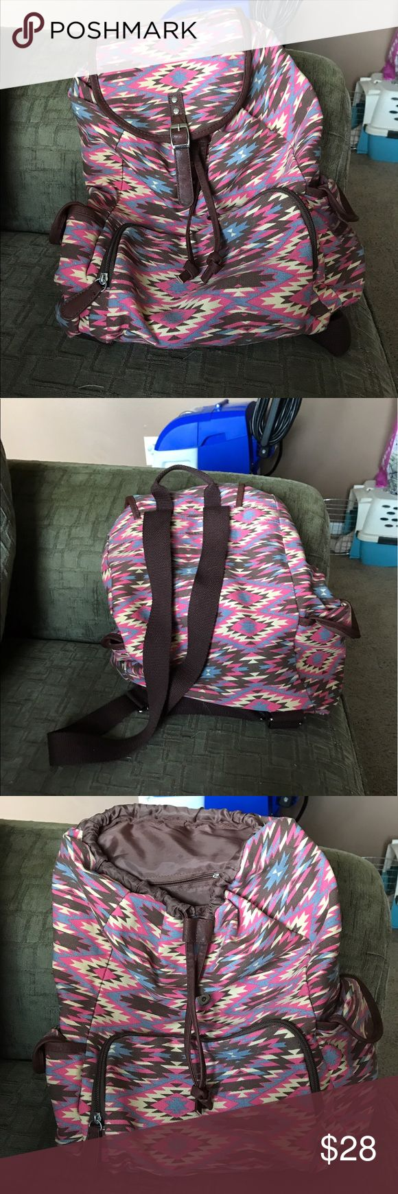 Aztec backpack Very quite and can be used for anything. Used twice. Clean inside bag. Got from Target Bags Backpacks
