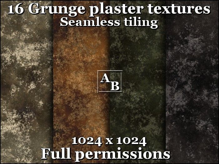 16 grunge plaster textures 1024x1024 Seamless tiling Full perm ꀪꊍ