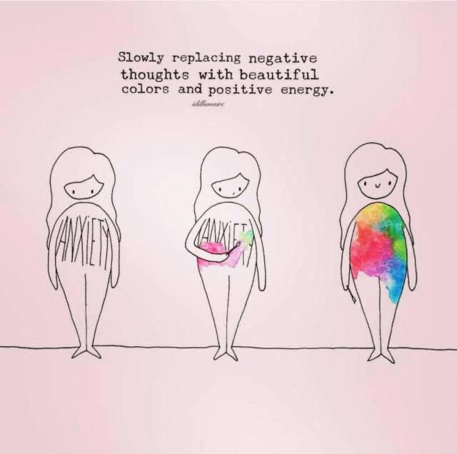 Slowly replace negative thoughts with beautiful colors and positive energy.<<<<this is why I want tattoos