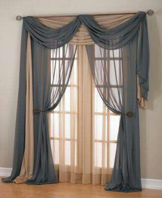 Multilayered, multicolored window treatments                                                                                                                                                                                 More
