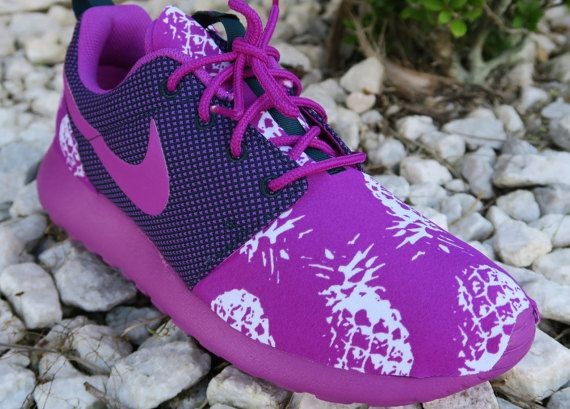 Hey, I found this really awesome Etsy listing at https://www.etsy.com/listing/256083973/vivid-purple-pineapple-custom-nike-roshe