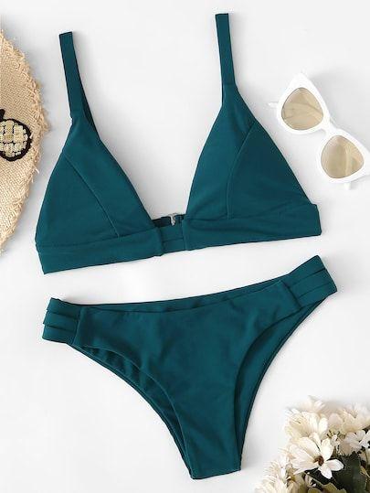 Set bikini ritagliato con scaletta