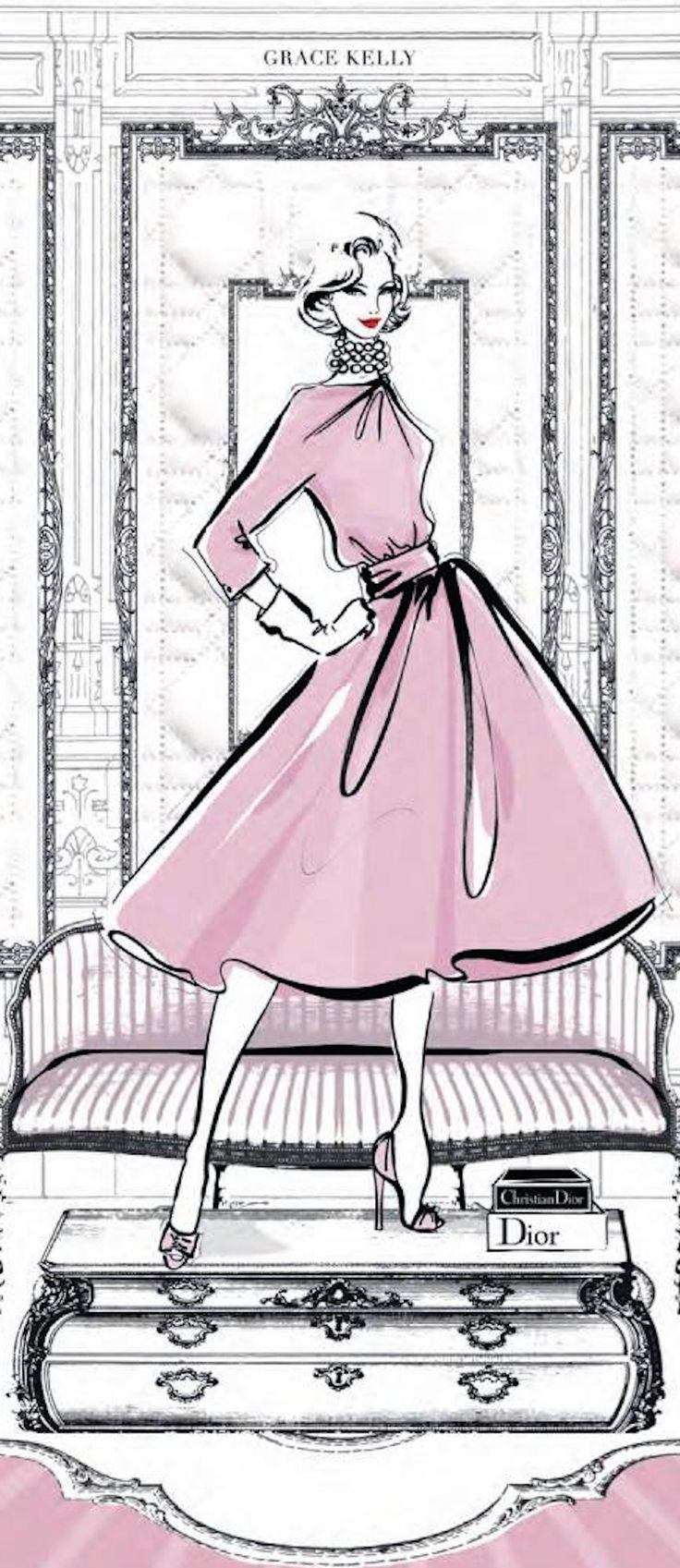 ♔ i l l p o p {fashion illustration} ~Dior | House of Beccaria