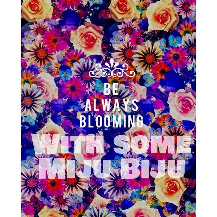 Be aaalways blooming with Miju Biju :)