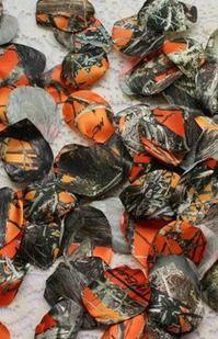 Camo Wedding Camo Petals Satin Camouflage Petals By IDoDoodads, $10.95