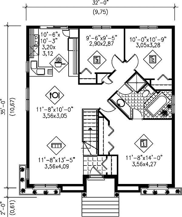 - 80199PM | 1st Floor Master Suite, CAD Available, Canadian, Metric, PDF, Ranch | Architectural Designs