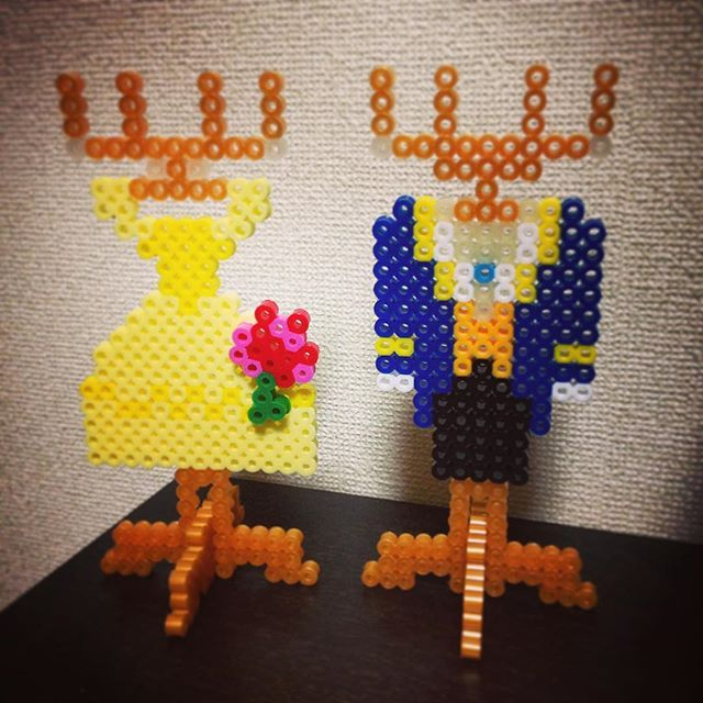 Inspired Beauty and the Beast accessoires holder perler beads by ringo_0122