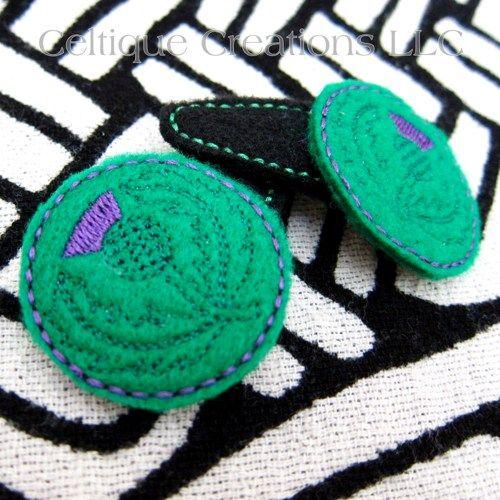 Handmade Scottish Thistle Snap Hair Clips Scotland National Flower    celtique_creations - Accessories on ArtFire