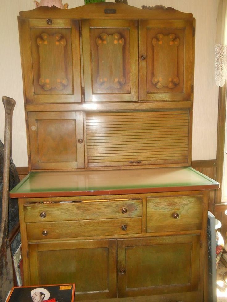 Ebay Kitchen Cabinets >> ANTIQUE MARSH HOOSIER CABINET HIGH POINT NC STENCILED ...