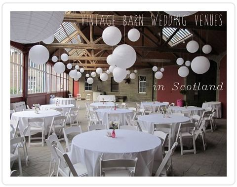 Vintage Barn Wedding Venues in Scotland - a really useful list for couples looking to hold a real scottish barn wedding with a vintage tinge!
