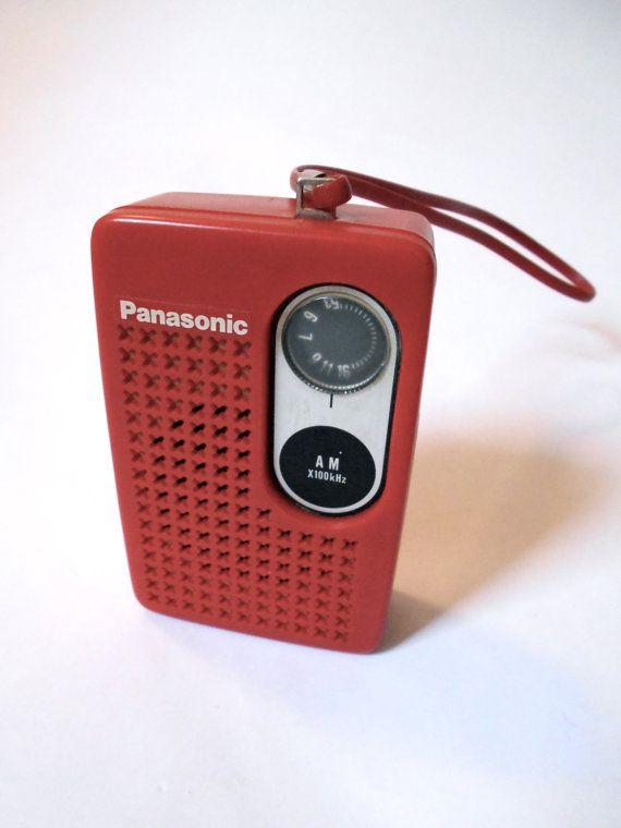 Vintage Panasonic R 1013 Red Am Transistor Radio 1970s Etsy Transistor Radio Transistor Radio Vintage Vintage Radio