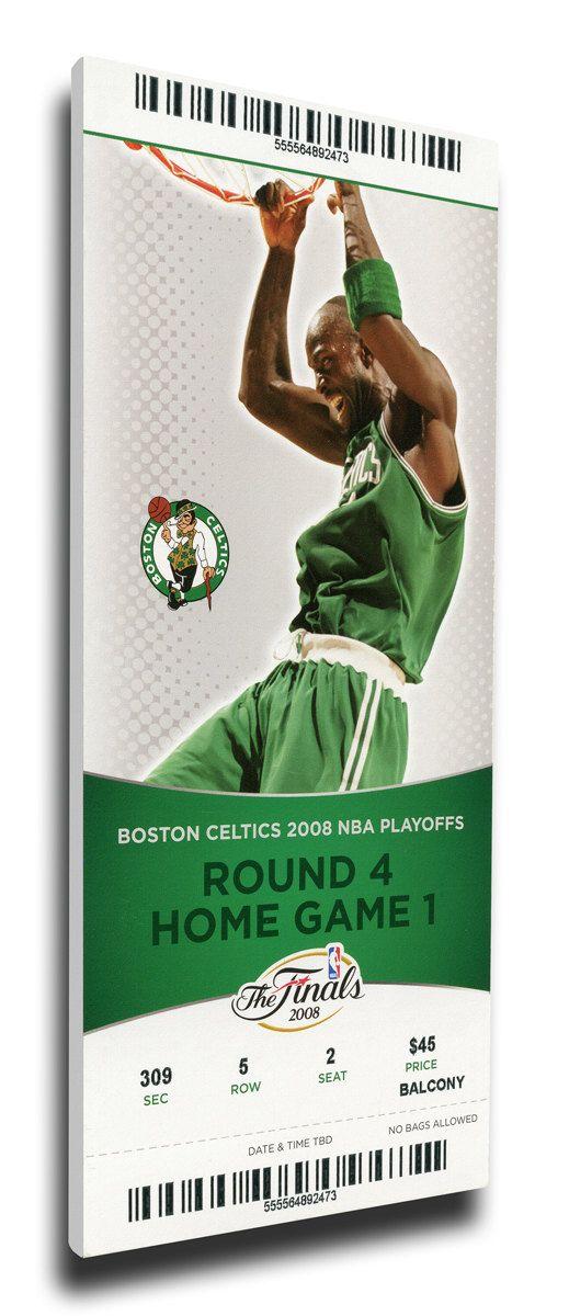 2008 NBA Finals Canvas Mega Ticket - Game 1, Garnett - Boston Celtics