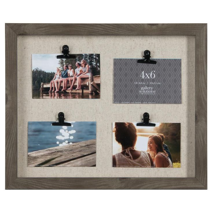 Clip Collage 4 in. x 6 in. Charcoal Picture Frame