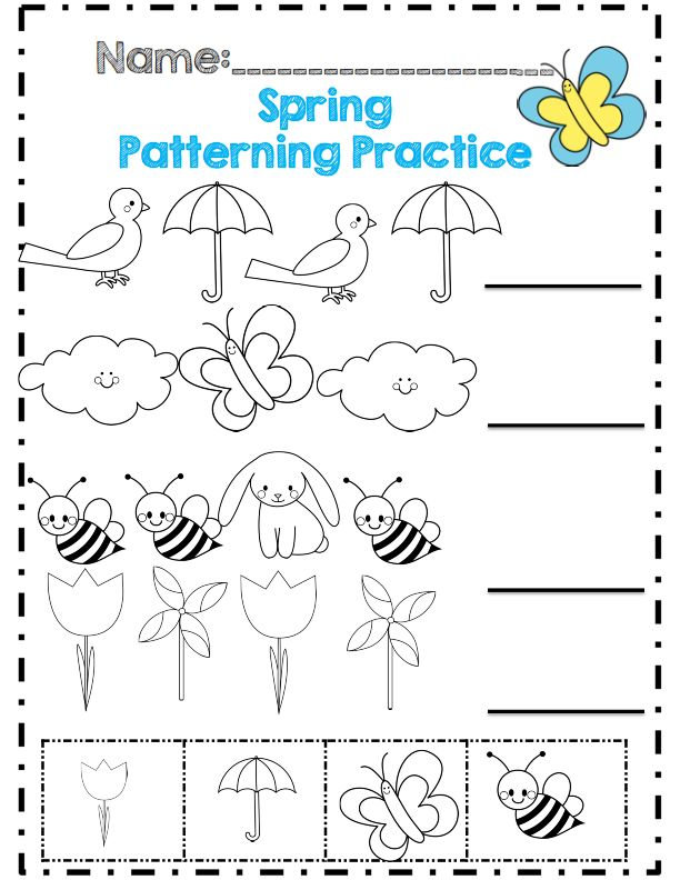 63 Best Örüntü Images On Pinterest | Preschool Math, Cut And Paste