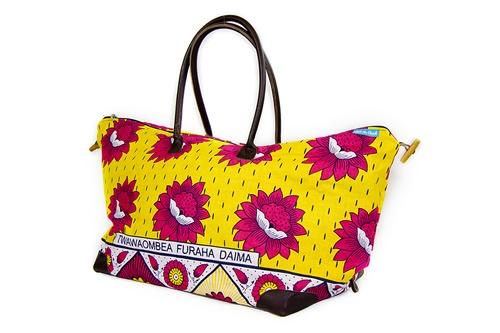 Large Yellow Red Kanga Bag Untoggled