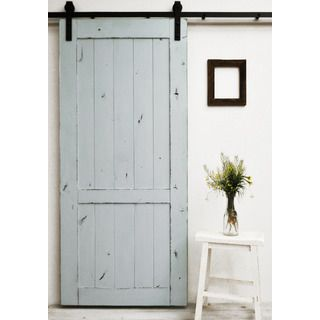 dogberry country vintage 36 x 82 inch barn door with sliding hardware system by dogberry collections