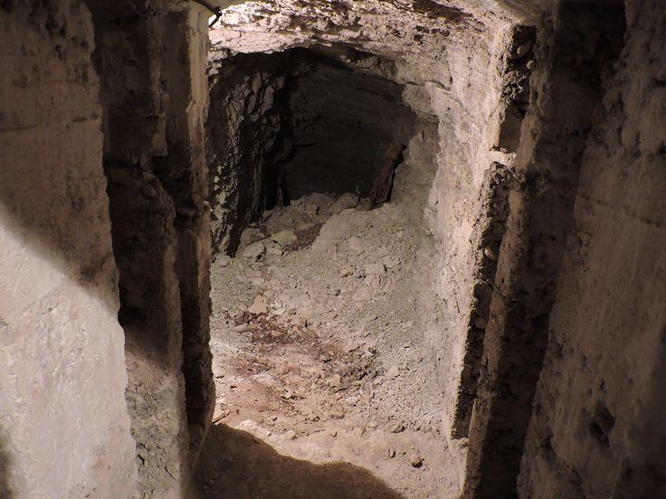 Une des galeries de contre-mine du Fort de Mutzig en Alsace, jamais terminée.
