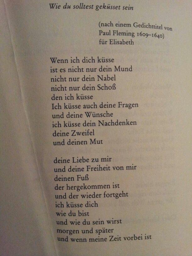 """Wie du solltest geküsst sein"" by Erich Fried...Okay but no this is really sweet!"