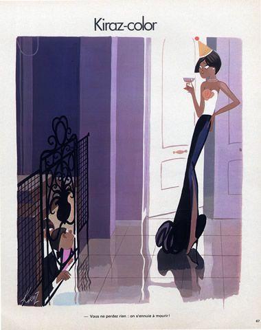 Edmond Kiraz 1976 Elegant Parisienne, Kiraz-color illustrated by Edmond Kiraz | Hprints.com