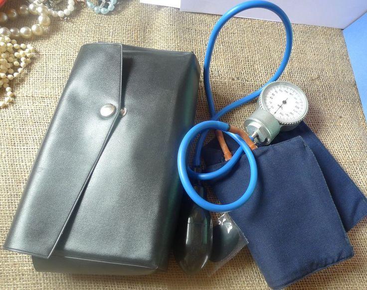 Old Vintage USSR Soviet Sphygmomanometer Blood Pressure Cuff Medicine Device