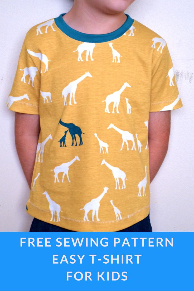 Easy T-shirt for kids: Learn how to make an easy t-shirt for kids with a quick and simple PDF printable sewing pattern. Sewing tutorial included!