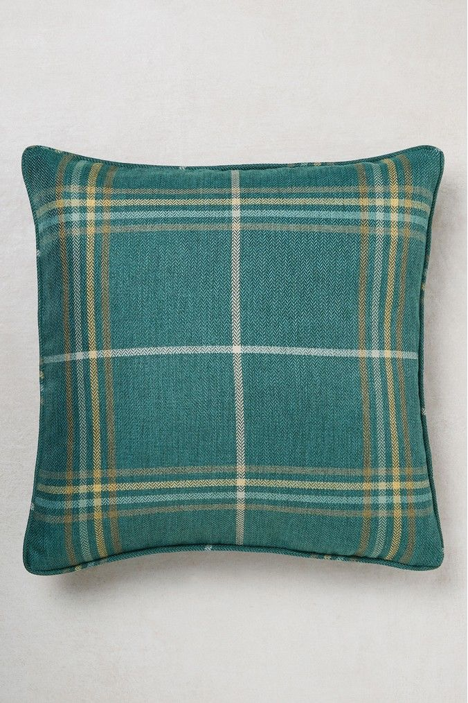 Next Camden Herringbone Check Cushion Green Checked Cushions Throw Cushions Cushions On Sofa