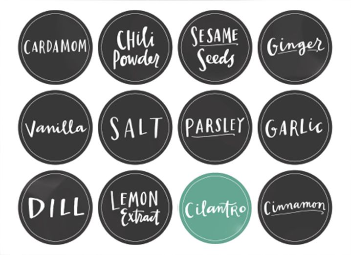 Make Your Own Spice Jars   How To Make Your Own Spice Jar Labels Great Ideas