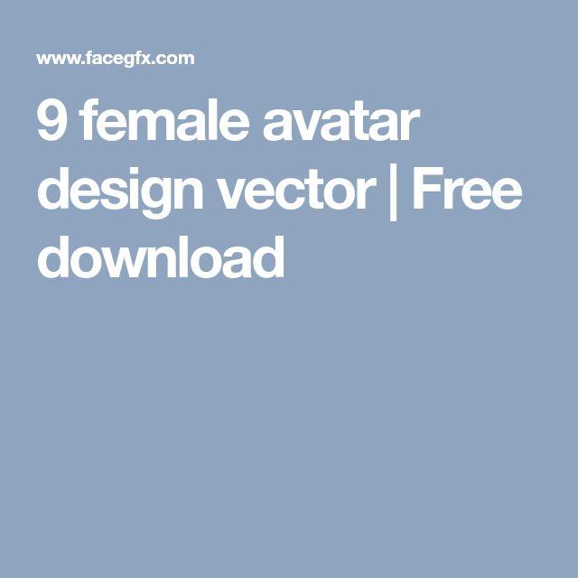 9 female avatar design vector | Free download