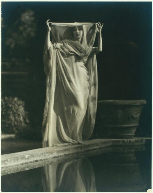 Ruth St. Denis in Greek Veil costume. by New York Public Library