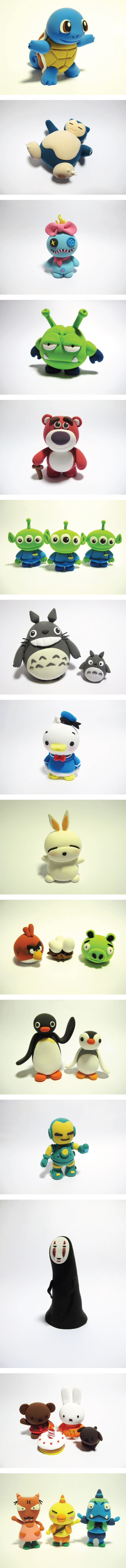 Adorable clay characters to inspire you! Happy modelling, JumpingClay