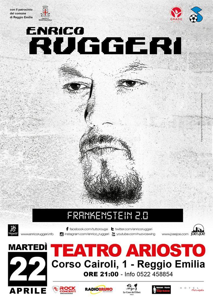 22 aprile 2014 - Enrico Ruggeri in concerto per il CO-RE al Teatro Ariosto di Reggio Emilia