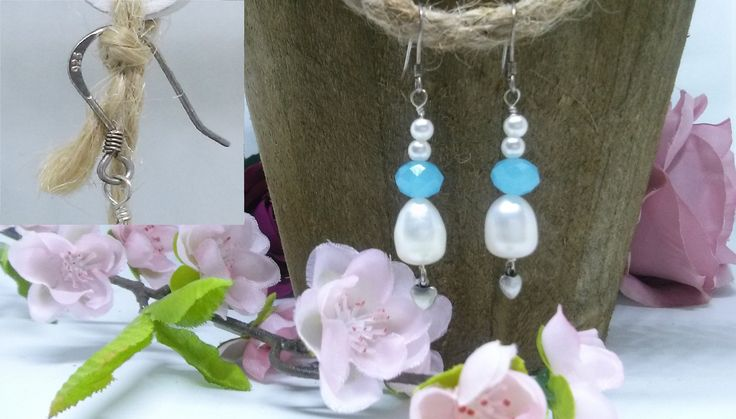 Excited to share the latest addition to my #etsy shop: Sterling silver drop earrings, freshwater pearl https://etsy.me/2Ha6p6b #jewelry #earrings #dropearrings #pearl #blue #sterlingsilver #freshwaterpearl #kallysartistry