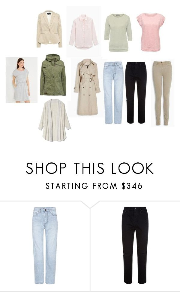 """Базовый гардероб"" by julia-tcherba on Polyvore featuring мода, Yves Saint Laurent и AG Adriano Goldschmied"