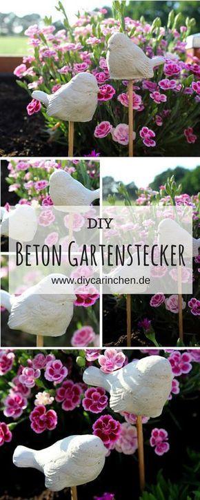 Diy Gartenstecker Vogel Aus Beton In Wenigen Schritten Selber Machen