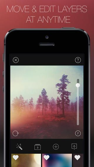 Mextures photo editing app offering a wide variety of