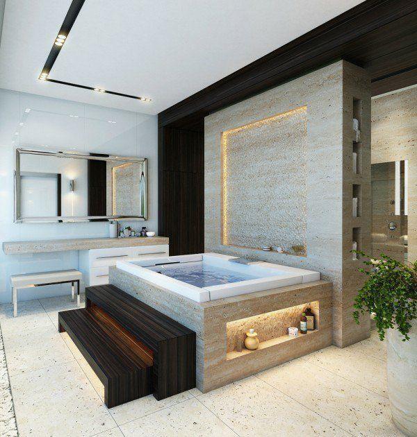 Salle De Bain De Luxe Avec Baignoire Moderne Baignoire Bathroom Accessories Luxury Luxury Bathroom Dream Bathrooms