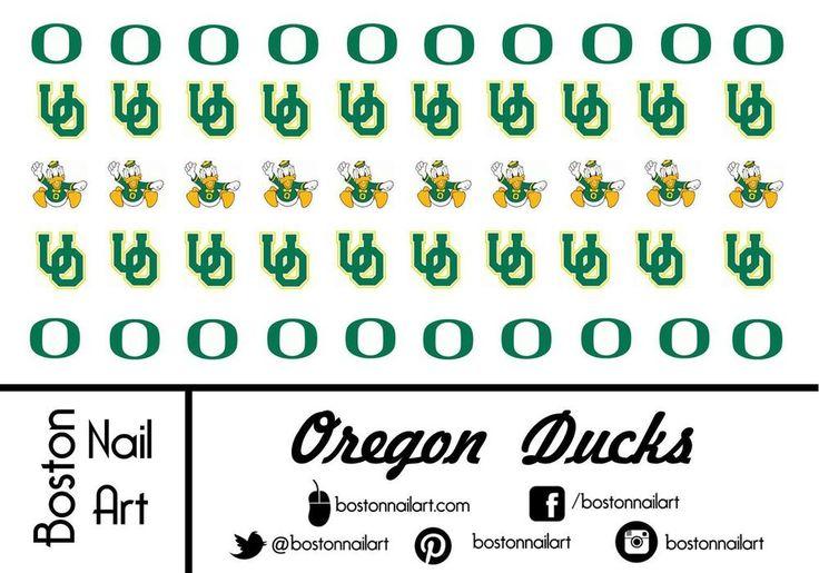 Collegiate - Oregon Ducks - Waterslide Nail Decal -50 PC - BNA-COL013 #Handmade