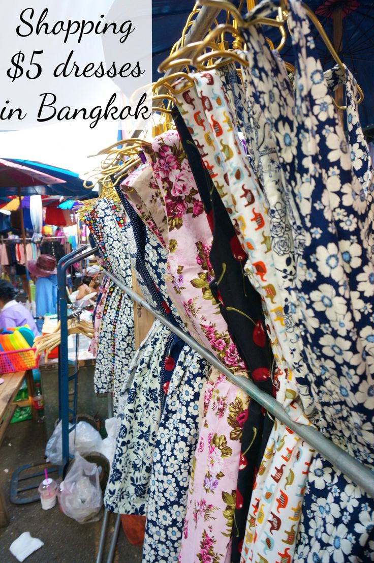 We found adorable cotton dresses on the cheap at our favorite Bangkok market-- stock up for a wearable souvenir from Thailand.