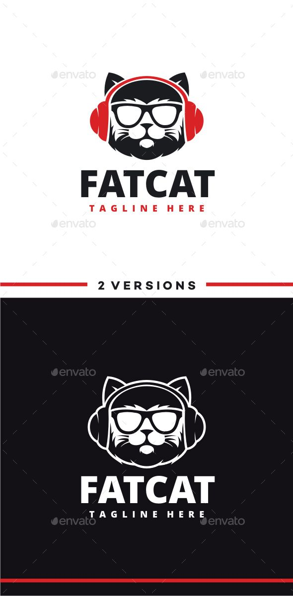 DJ Cat Logo Template #design #logotype Download: http://graphicriver.net/item/dj-cat-logo/13469036?ref=ksioks